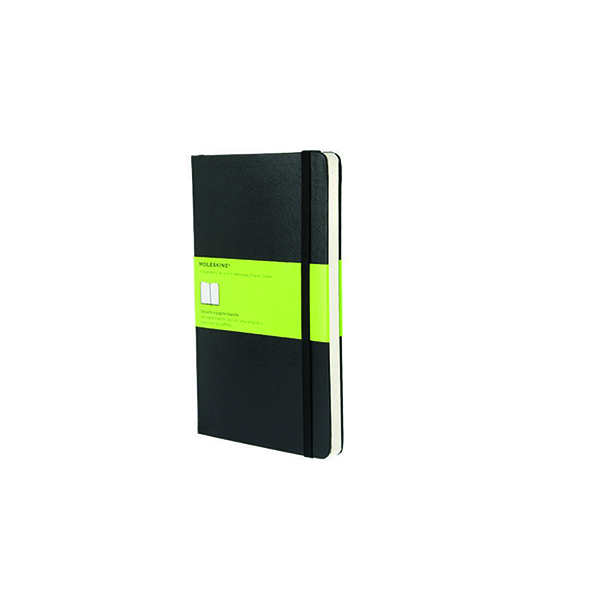 Moleskine Plain Hardcover Notebook Large Black QP062