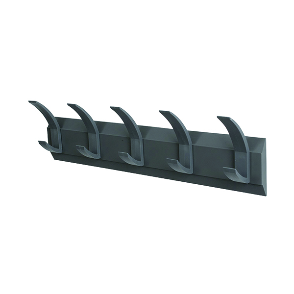 Image for Acorn Wall Mounted Coat Rack With 5 Hooks (Width: 610mm, mounting hardware included) 319875