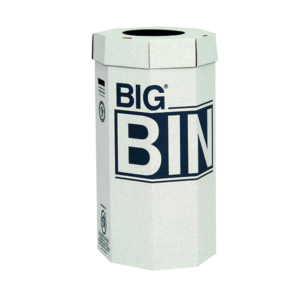 Acorn Big Bin Cardboard Recycling Bin 160 Litre (Pack of 5) 142958