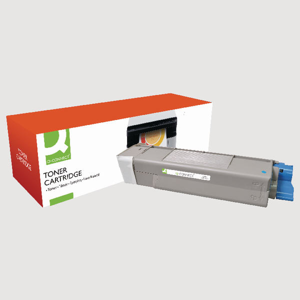 Q-Connect Oki Remanufactured Cyan Toner Cartridge 43872307