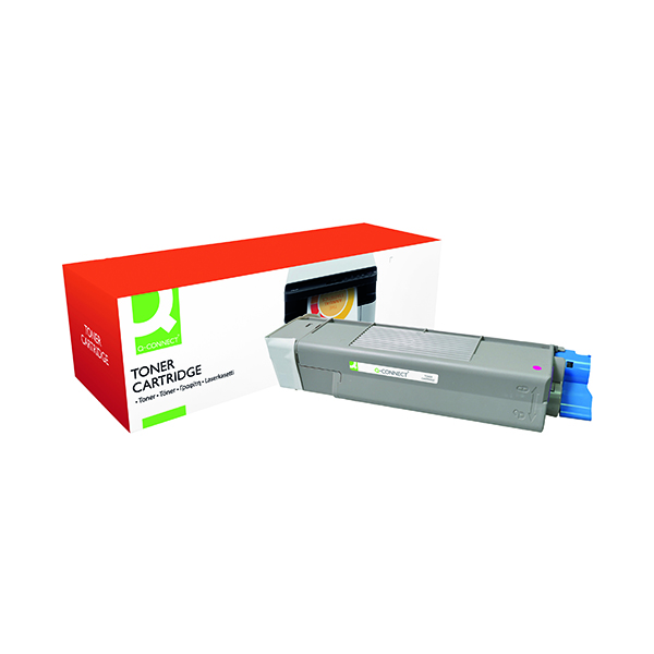 Q-Connect Oki Remanufactured Magenta Toner Cartridge 43872306