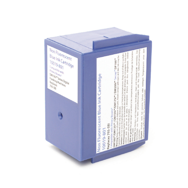Image for Q-Connect Pitney Bowes Remanufactured Blue Franking Ink Cartridge 793-5BL