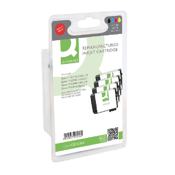 Q-Connect Epson T163640 HY Ink Cartridge (Pack KCMY (Pack of 4) T163640-COMP