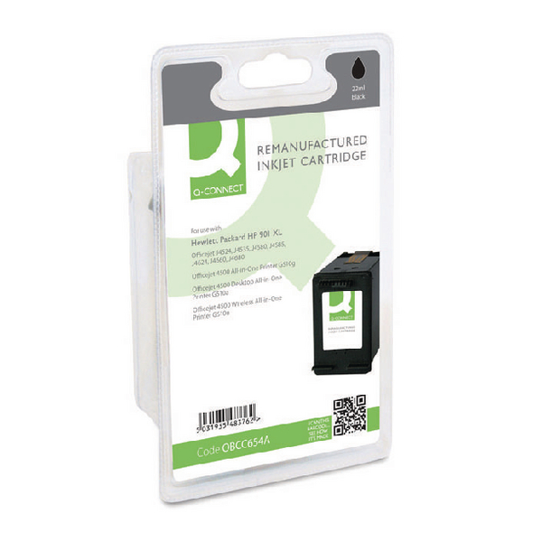 Q-Connect HP 901XL Remanufactured Black Inkjet Cartridge High Yield CC654AE
