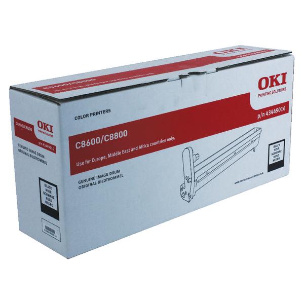 Oki C8600/C8800 Black Image Drum 43449016