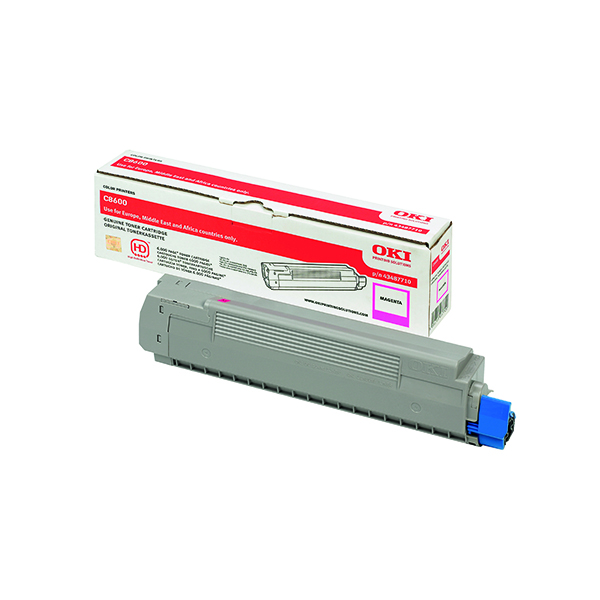 Oki C8600/C8800 Magenta Toner Cartridge (Capacity: 6000 pages) 43487710