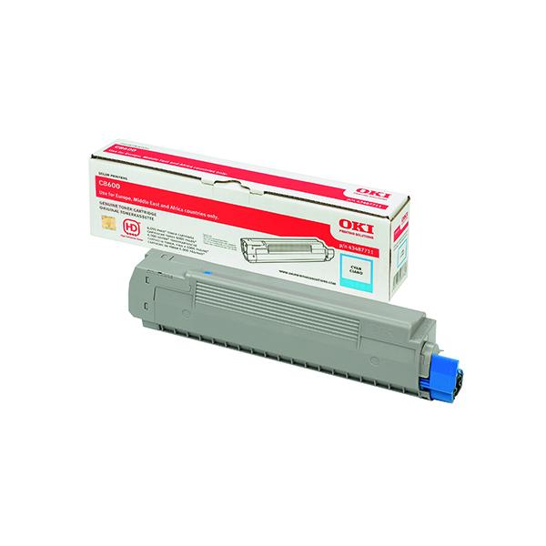 Oki C8600/C8800 Cyan Toner Cartridge 43487711