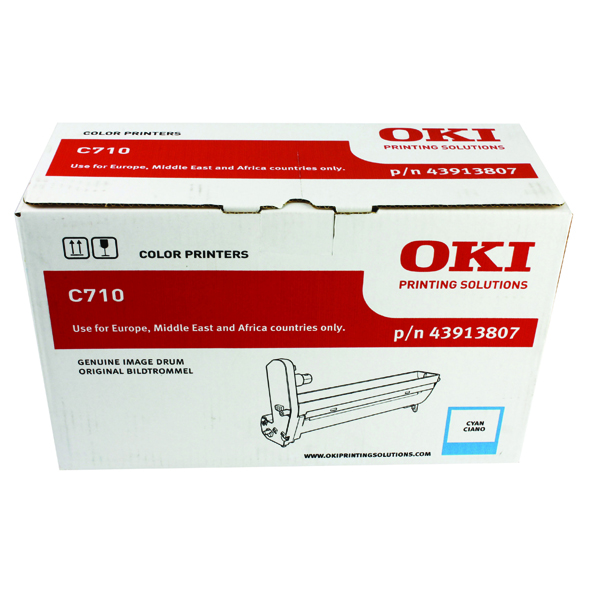 Oki C710 Cyan Image Drum (15,000 Page Capacity) 43913807