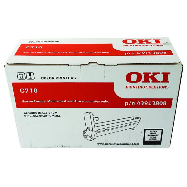 Oki C710 Black Image Drum (20,000 Page Capacity) 43913808
