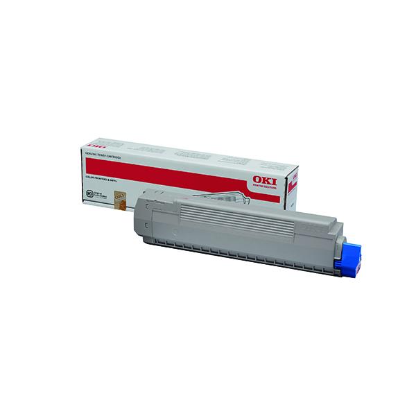 Oki Cyan Toner Cartridge (10,000 Page Capacity) 44059255