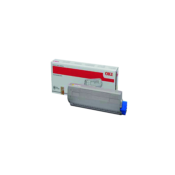Oki Yellow Toner Cartridge (10,000 Page Capacity) 44844505