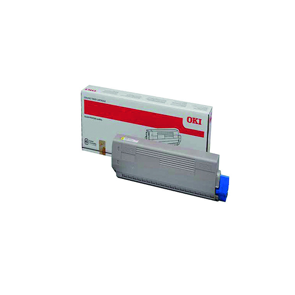 Oki Yellow Toner Cartridge (7,300 Page Capacity) 44844613
