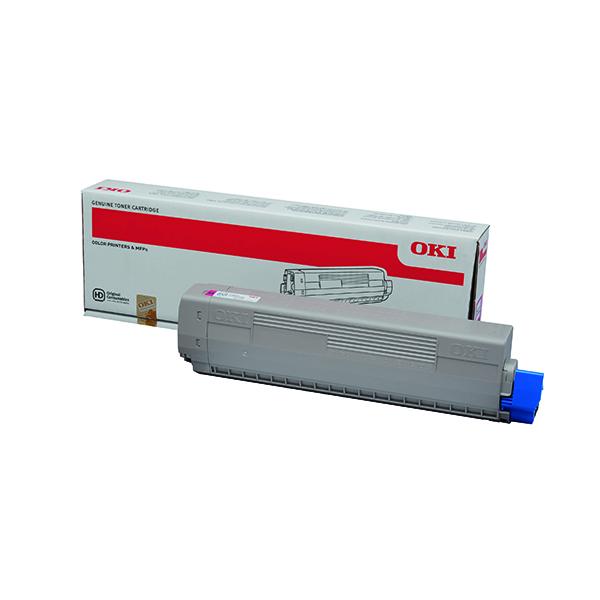Oki Magenta Toner Cartridge (7,300 Page Capacity) 44844614