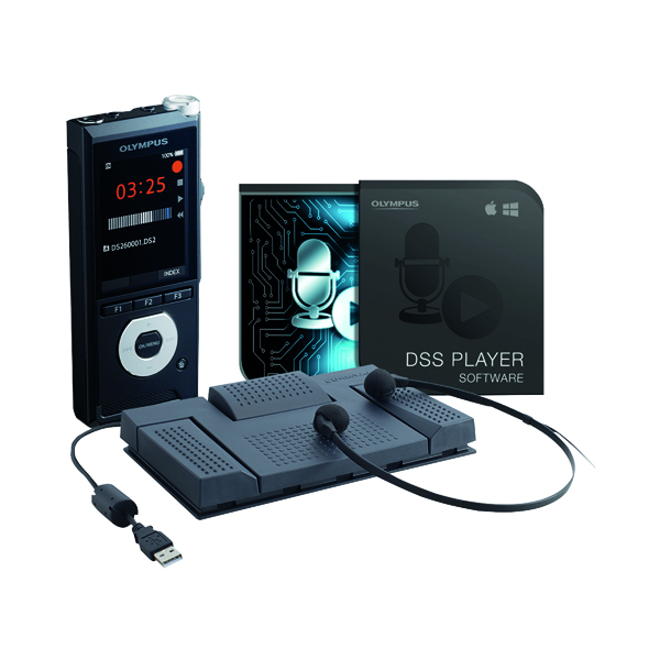 Image for Olympus DS-2600 and AS-2400 Dictation and Transcription Starter Kit DS-2600+AS-2400