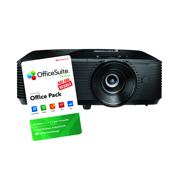 Optoma S322E Projector Black FOC 6 Month Officesuite Licence