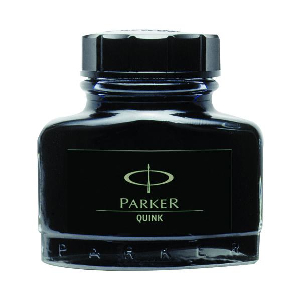 Image for Parker Quink Black Permanent Ink Bottle 2oz S0037460