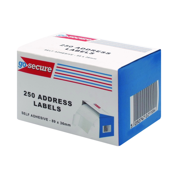GoSecure Self Adhesive Address Labels (6 Packs of 250) PB02278