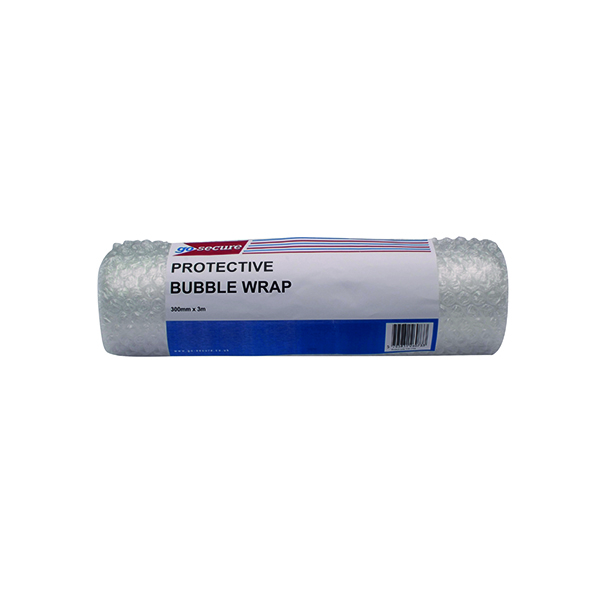 GoSecure Bubble Wrap Roll Small 300mmx3m Clear (Pack of 16)