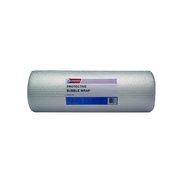GoSecure Bubble Wrap Roll Large 500mmx10m Clear (Pack of 4)