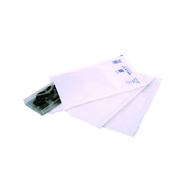 Ampac Envelopes 170x245mm Extra Strong Polythene Padded Bubble Lined  White (Pack of 100) KSB-2