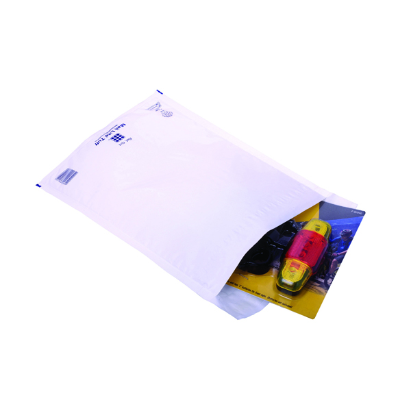 Image for Ampac Envelopes 230x345mm Extra Strong Polythene Padded Bubble Lined White (Pack of 100) KSB-3