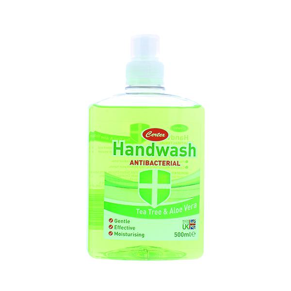 Certex Handwash Antibacterial Tea Tree/Aloe 500ml TOCER002 (Pack of 12)