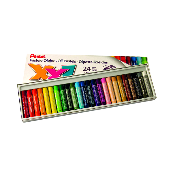 Pentel Oil Pastels Assorted Large (Pack of 24) GHT-24