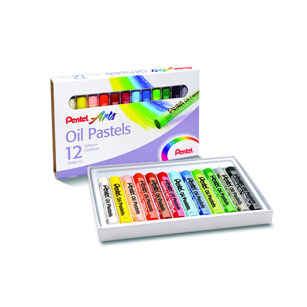 Pentel Standard Oil Pastels Assorted (Pack of 36) PHN4-12CP