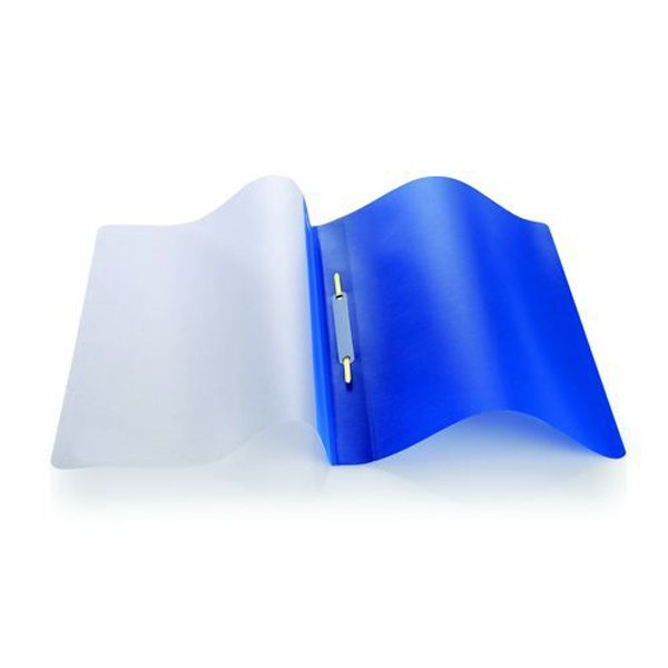 Initiative Polypropylene Report File With Clear Cover A4 Blue Pack 25