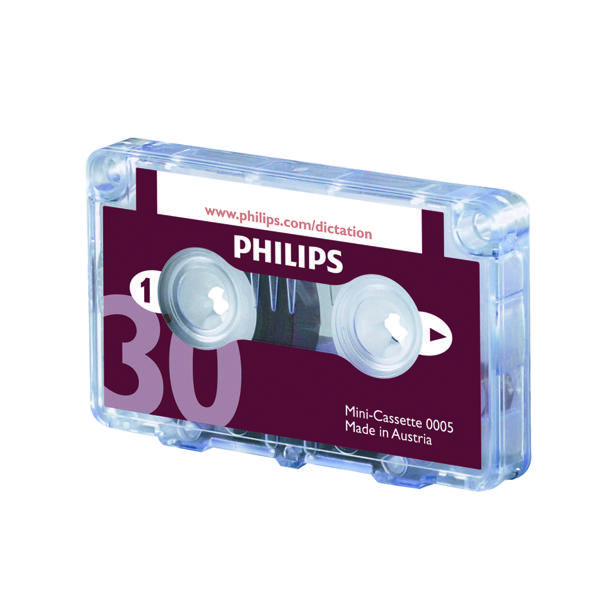 Image for Philips Dictation Cassette 30 Minutes (Pack of 10) LFH0005/30