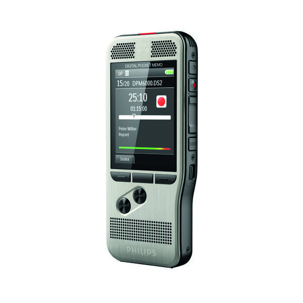 Image for Philips Silver Digital Pocket Memo 6000 Voice Recorder DPM6000