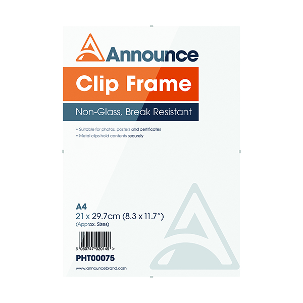 Image for Announce Metal Clip Frame A4 PHT00075
