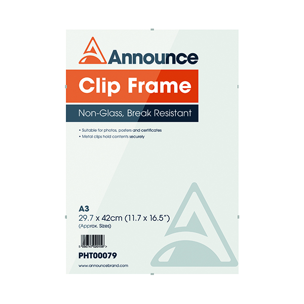 Image for Announce Metal Clip Frame A3 PHT00079