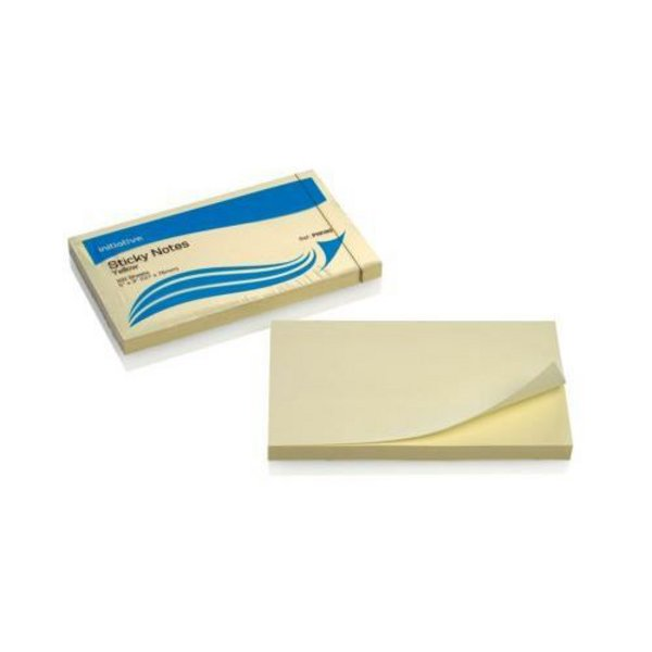 Image for Initiative Extra Sticky Notes 76 x 127mm Yellow 90 Sheet Per Pad