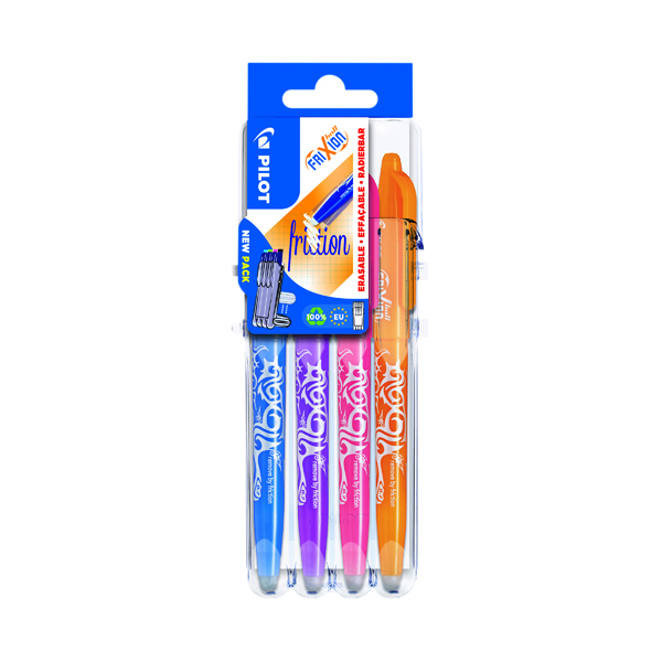 Pilot Set2Go FriXion Rollerball 07 Pens Assorted (Pack of 4) 3131910551584