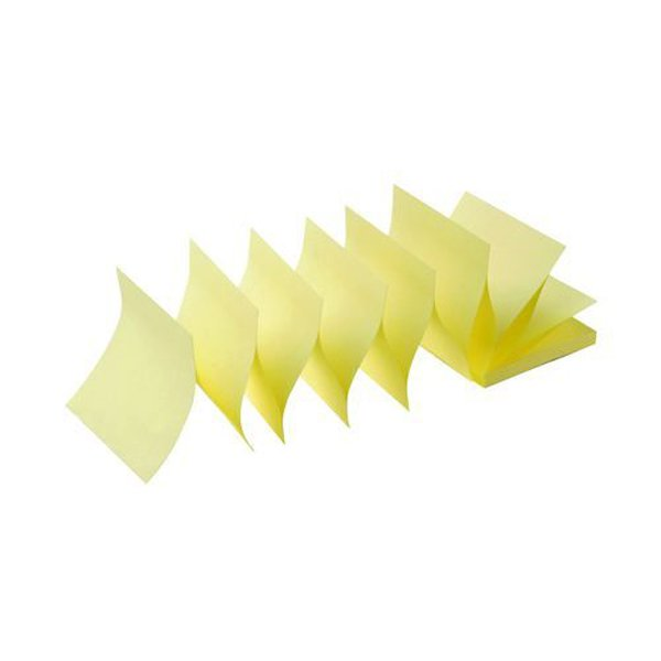 Image for Initiative Sticky Z-Notes 76 x 76mm (3 x 3 Inches) Yellow