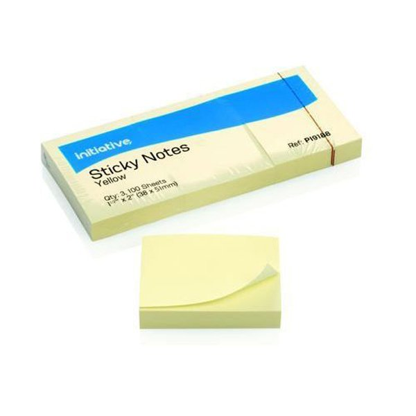 Image for Initiative Sticky Notes 38 x 51mm  (1.5 x 2) Inches Yellow