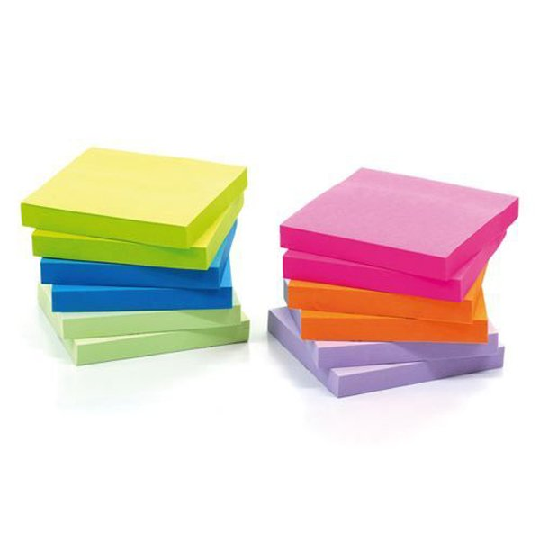 Image for Initiative Sticky Notes Assorted Neon & Pastel 76 x 76mm 100 Sheets
