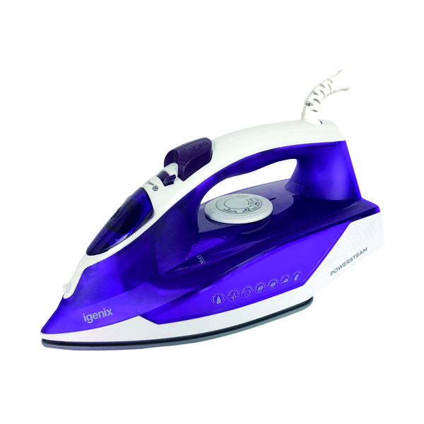 Image for Igenix 2000 Watt Electric Corded Steam Iron IG3121