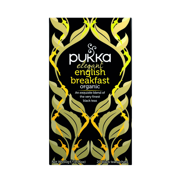 Pukka Elegant English Breakfast Fairtrade Tea (Pack of 20) P5050
