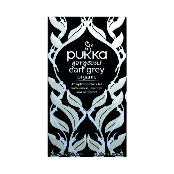 Pukka Gorgeous Earl Grey Fairtrade Tea (Pack of 20) P5052