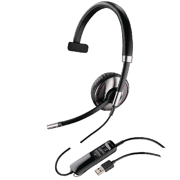 Plantronics Black Wire C710-M USB Headset Monaural Microsoft-Compatible 48188