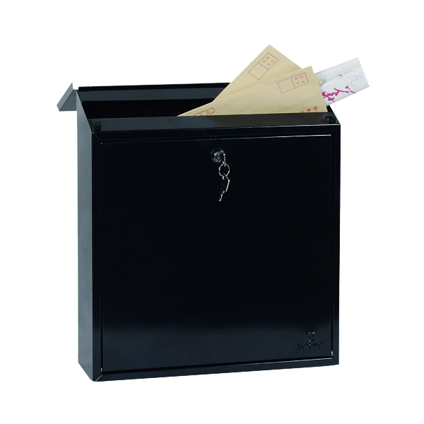 Phoenix Casa Top Loading Mail Box Black (Weatherproof, corrosion and rust resistant) MB0111KB