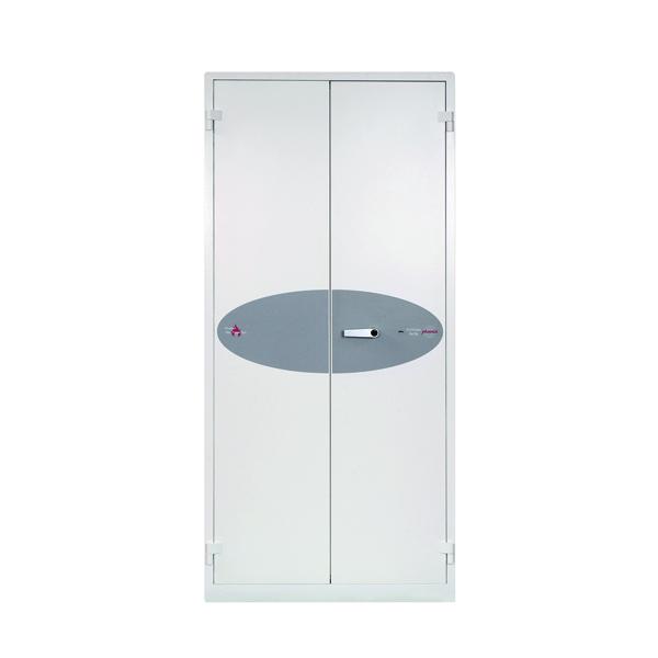 Phoenix White Fire Ranger Cabinet Size 3 Key Lock FS1513K