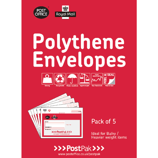 Polythene 460x430 Envelopes (Pack of 20) 101-3484