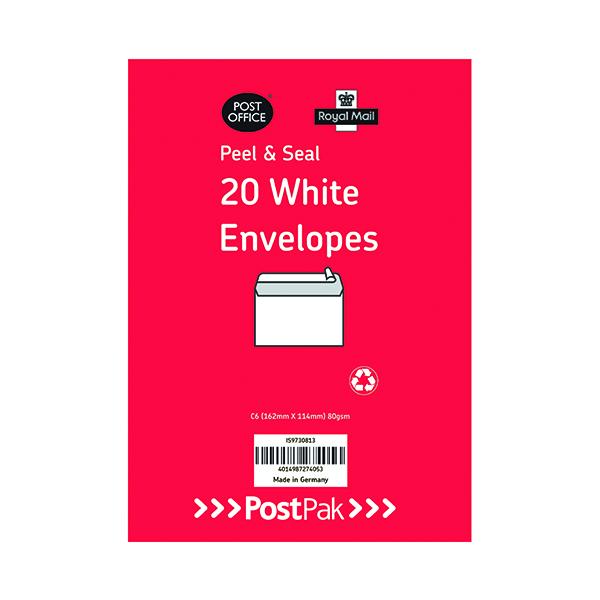 Envelopes C6 Peel & Seal White 80Gsm (Pack of 520)