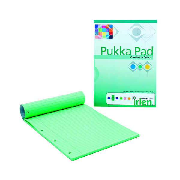Image for Pukka Pad A4 Refill Pad Green (Pack of 6) IRLEN50