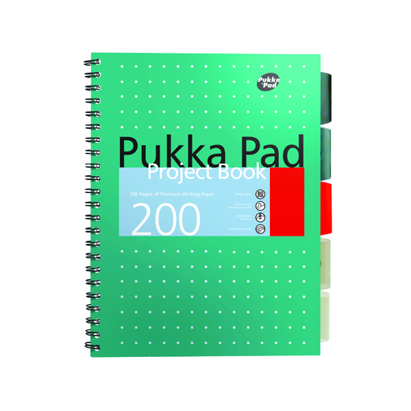 Pukka Pad Metallic Cover Wirebound Project Book B5 (Pack of 3) 8518-MET