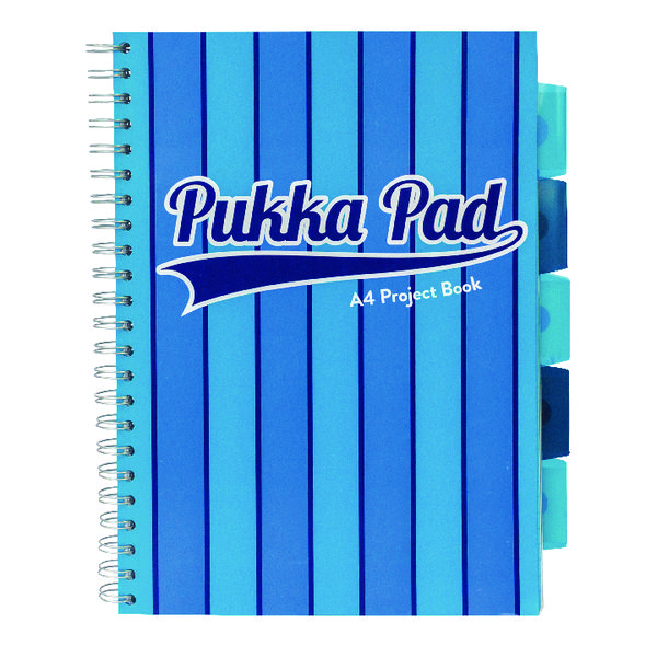 Pukka Pad Vogue Wirebound Project Book A4 Blue (Pack of 3) 8538-VOG