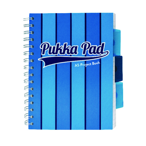 Image for Pukka Pad Vogue Wirebound Project Book A5 Blue (Pack of 3) 8540-VOG